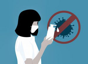 Bezdotykowy dozownik do dezynfekcji rąk